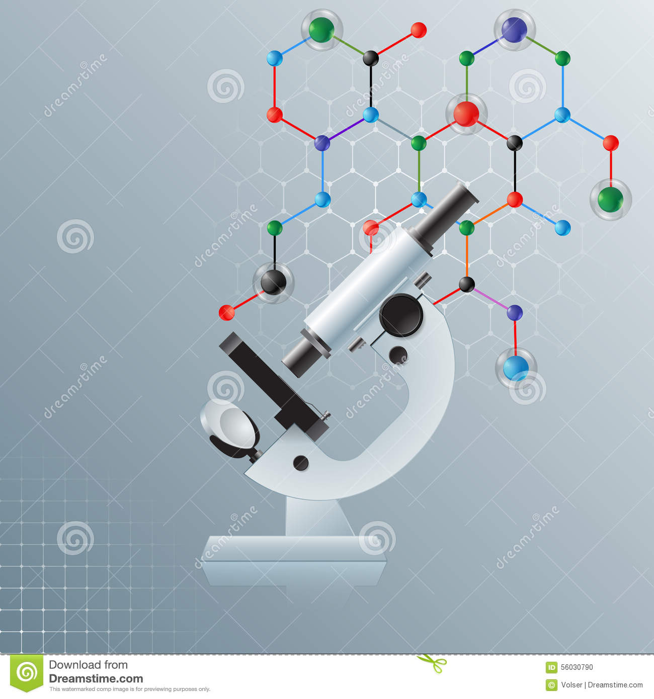 Science Design For Notebook: Computer Graphic, Template Science Background With