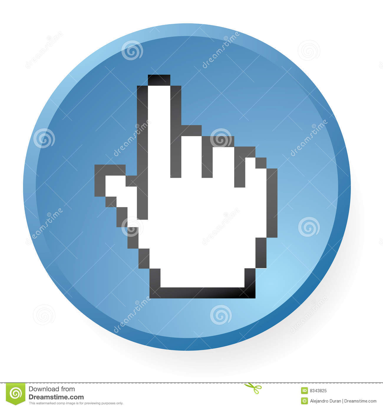 Computer Hand Icon Royalty Free Stock Photo - Image: 8343825