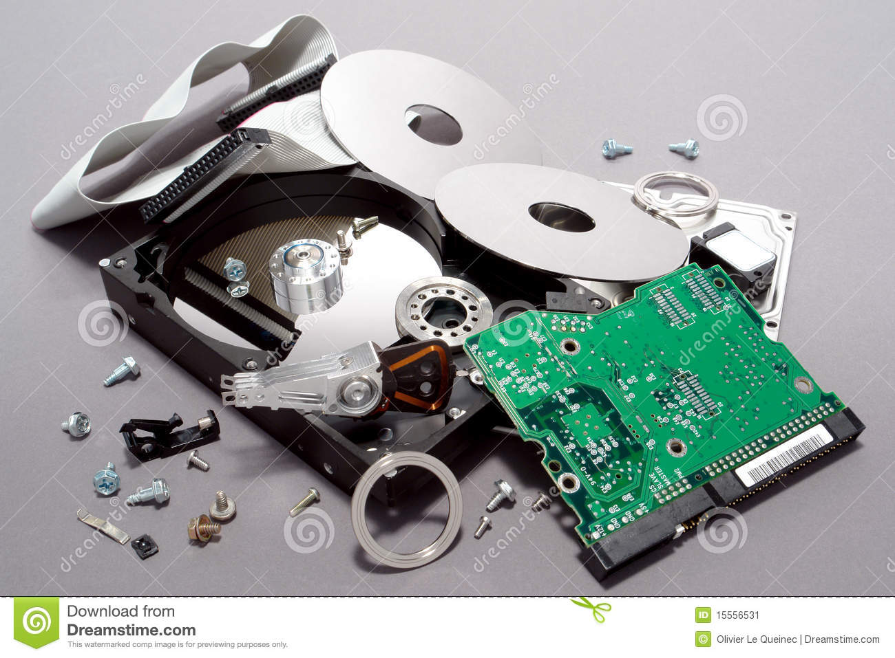 Computer Hard Drive Crashed And Broken Apart Stock Image Of Circuit Board Free Photo Hd Public Domain Pictures Royalty