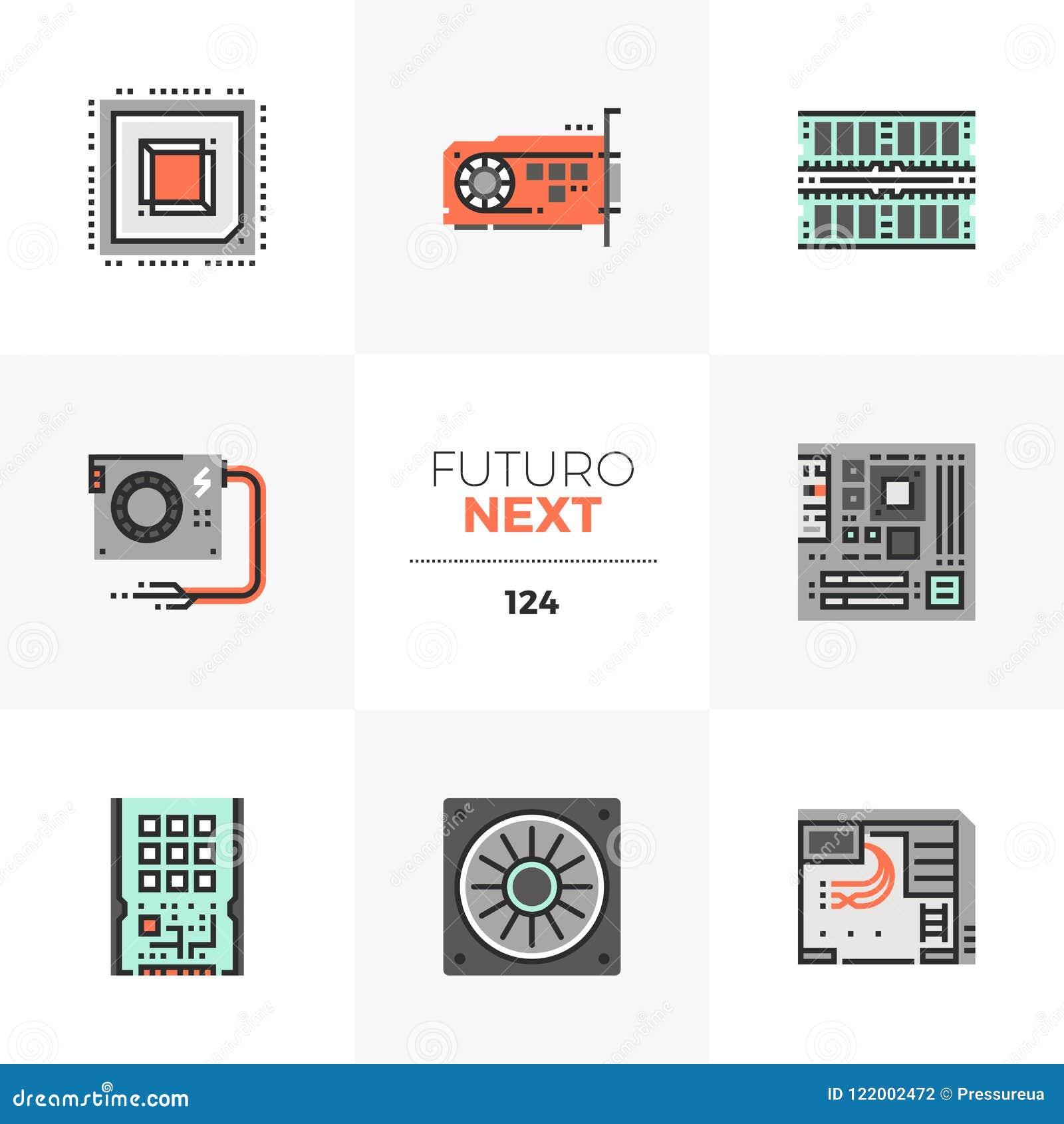 Computer Hardware Futuro Next Icons
