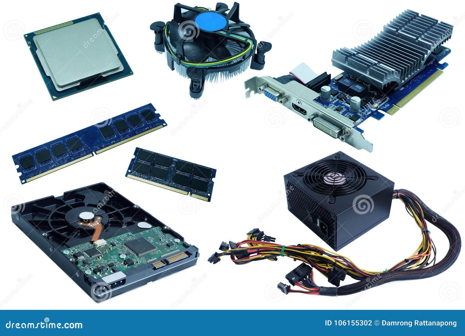Computer Hardware, Hard Drive, Cpu, Cpu Fan, Ram, Vga Card