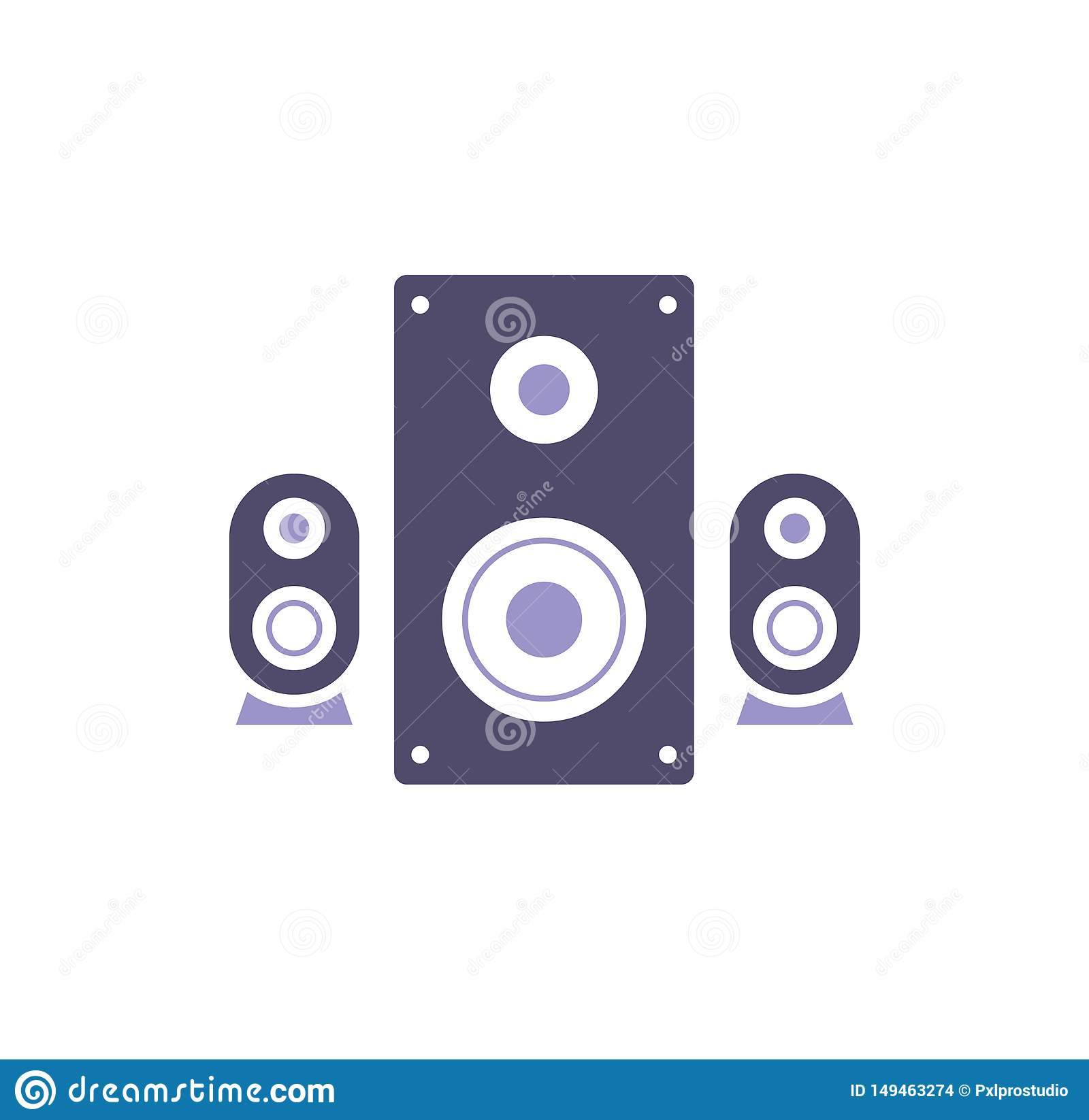 Computer hardware icon on background for graphic and web design. Simple illustration. Internet concept symbol for