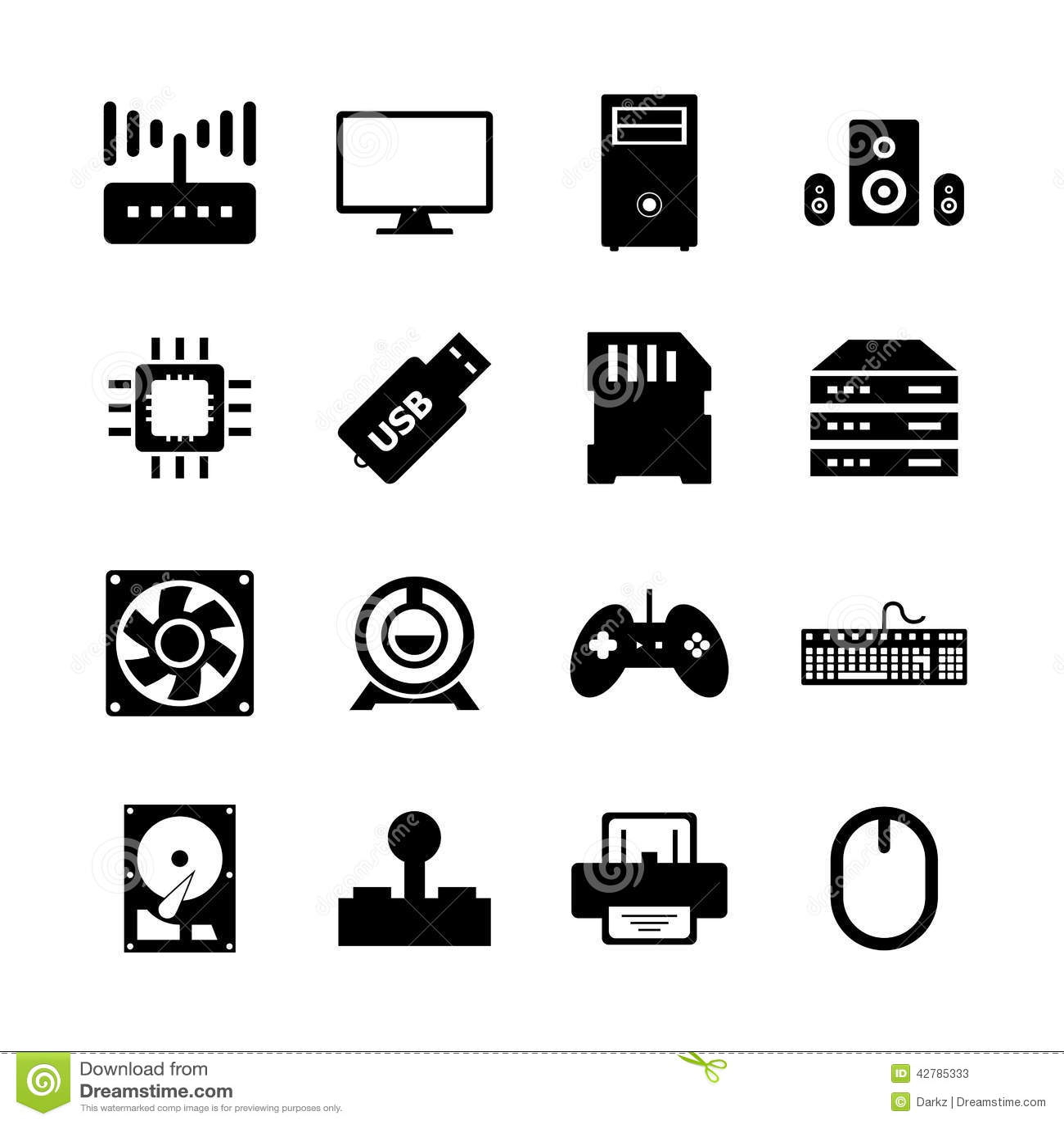 computer hardware icon stock illustration  illustration of
