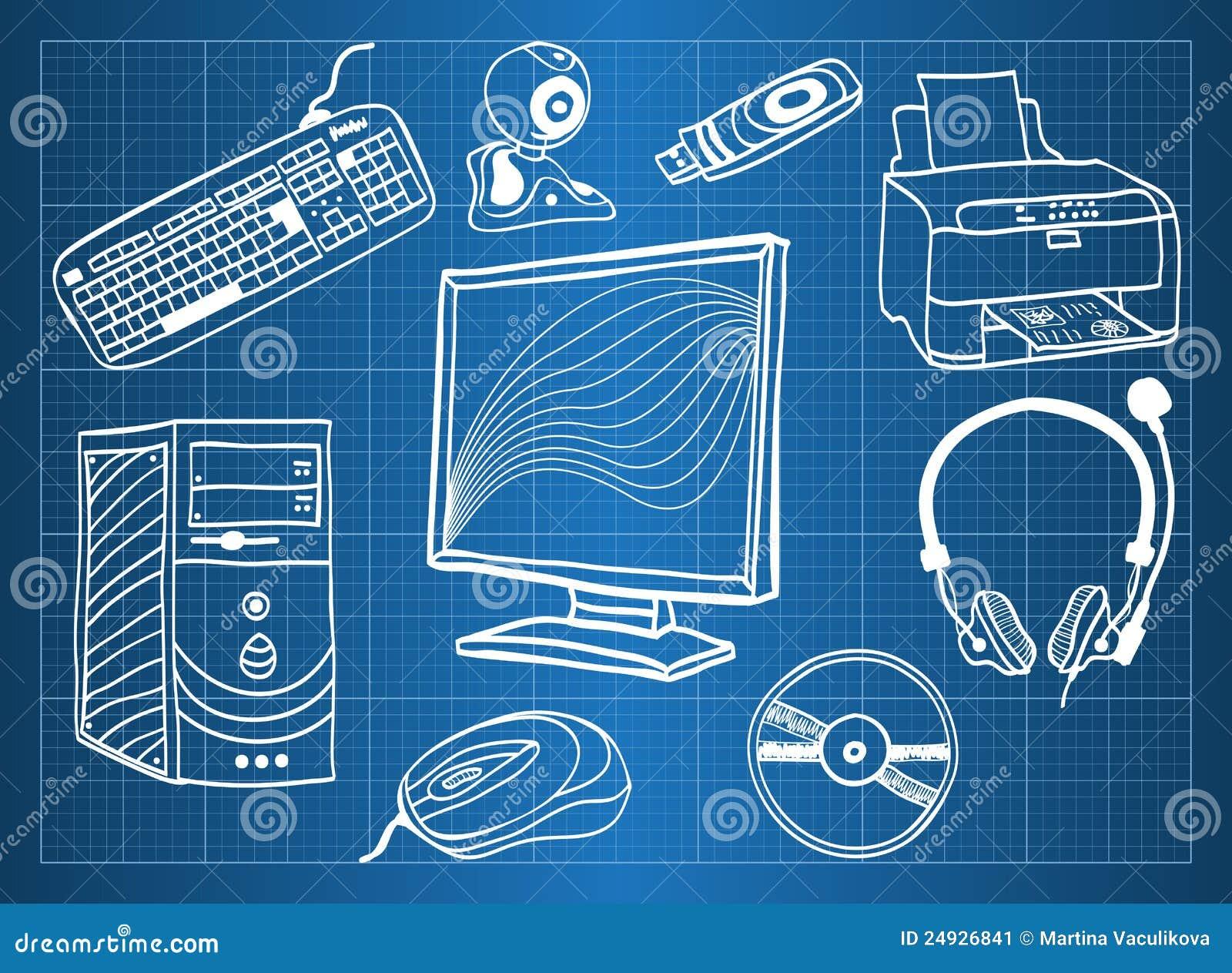 computer hardware - peripherals stock image