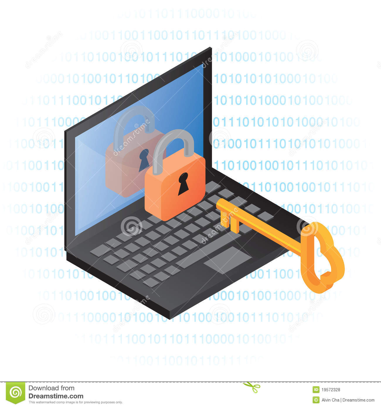 Computer Information Security Stock Illustration ...
