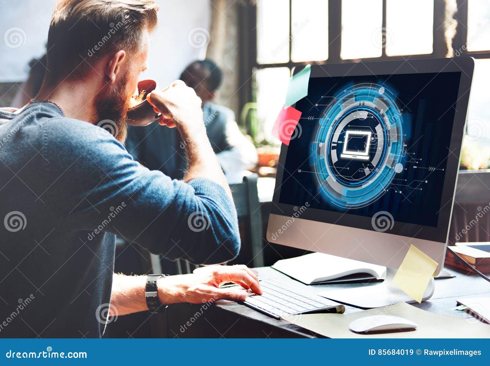Computer-Informationstechnologie-Verbindungs-Konzept