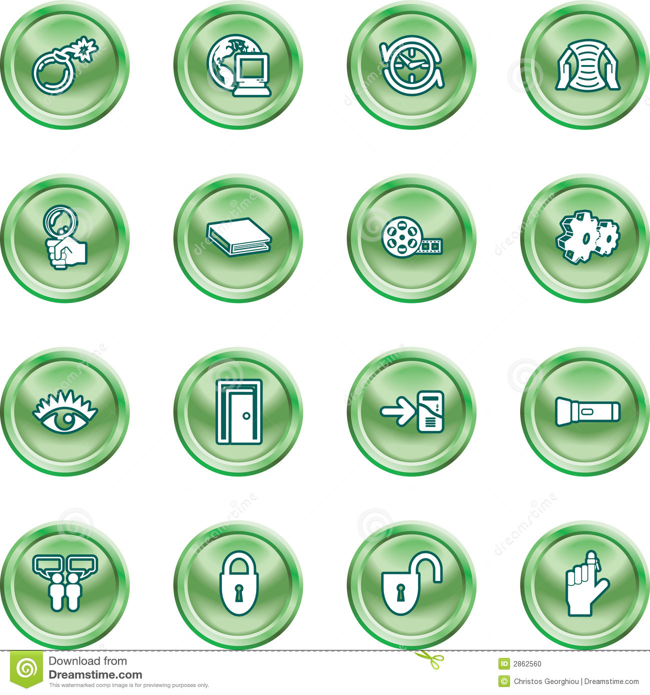 Computer And Internet Icons Stock Photo - Image: 2862560