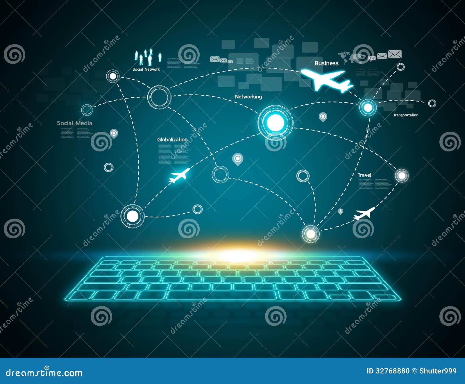 Computers Technology: Computer Keyboard Stock Photo