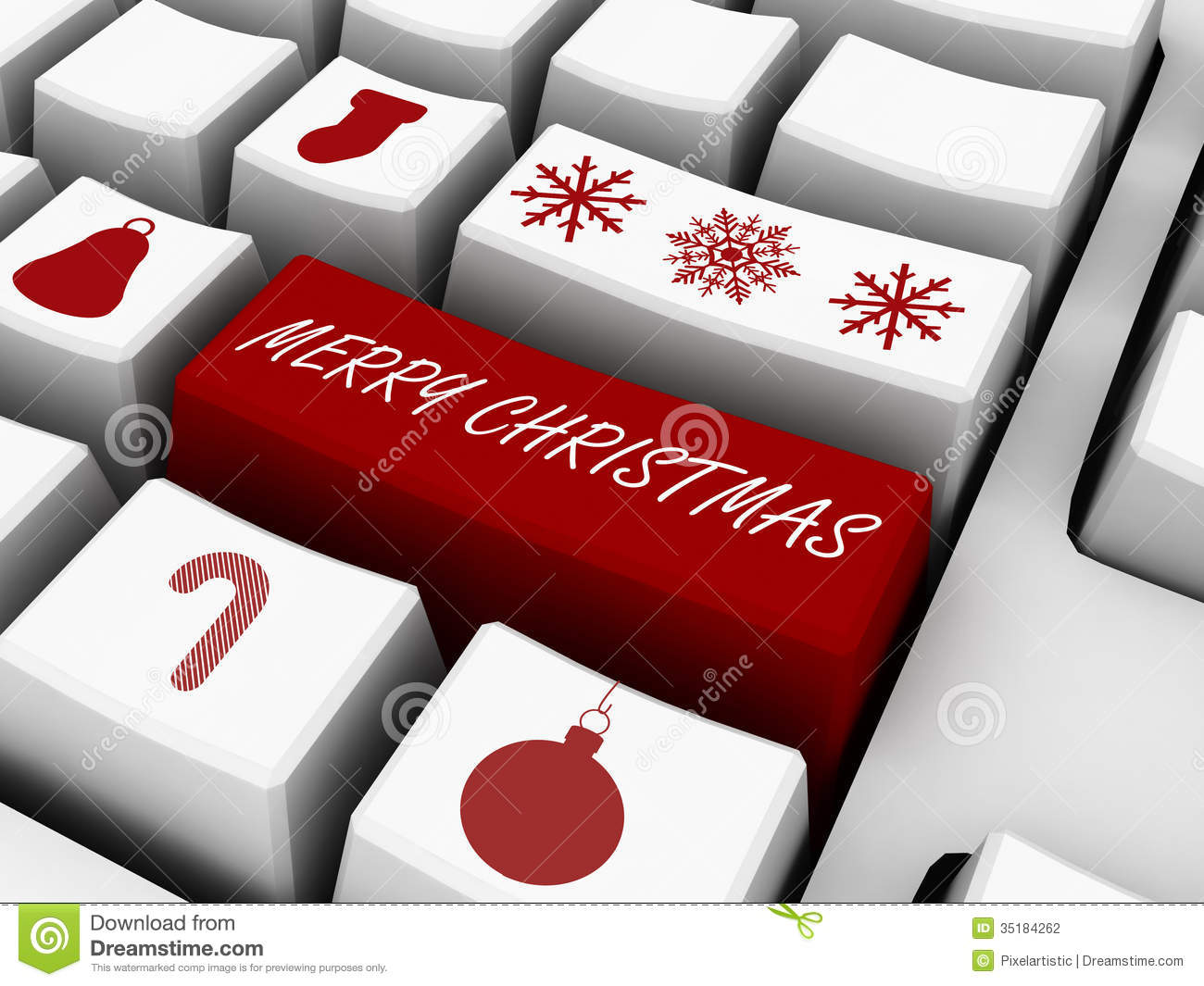 Computer Keyboard Business Holiday Concept Email Gifts Stock