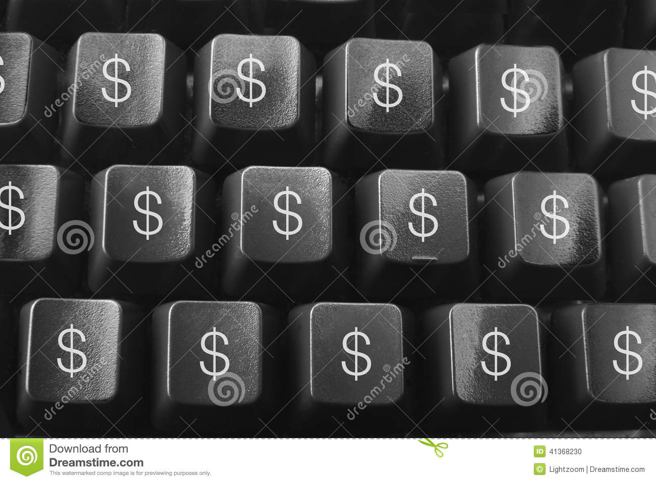 Computer keyboard with dollar symbols stock illustration computer keyboard with dollar symbols buycottarizona Gallery