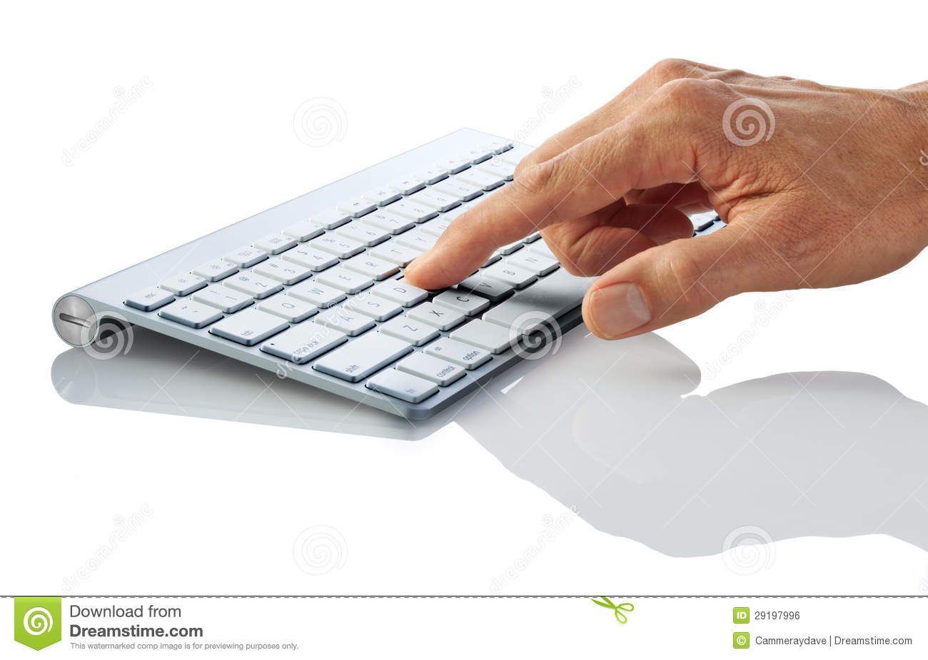 computer keyboard finger hand stock photo image 29197996. Black Bedroom Furniture Sets. Home Design Ideas