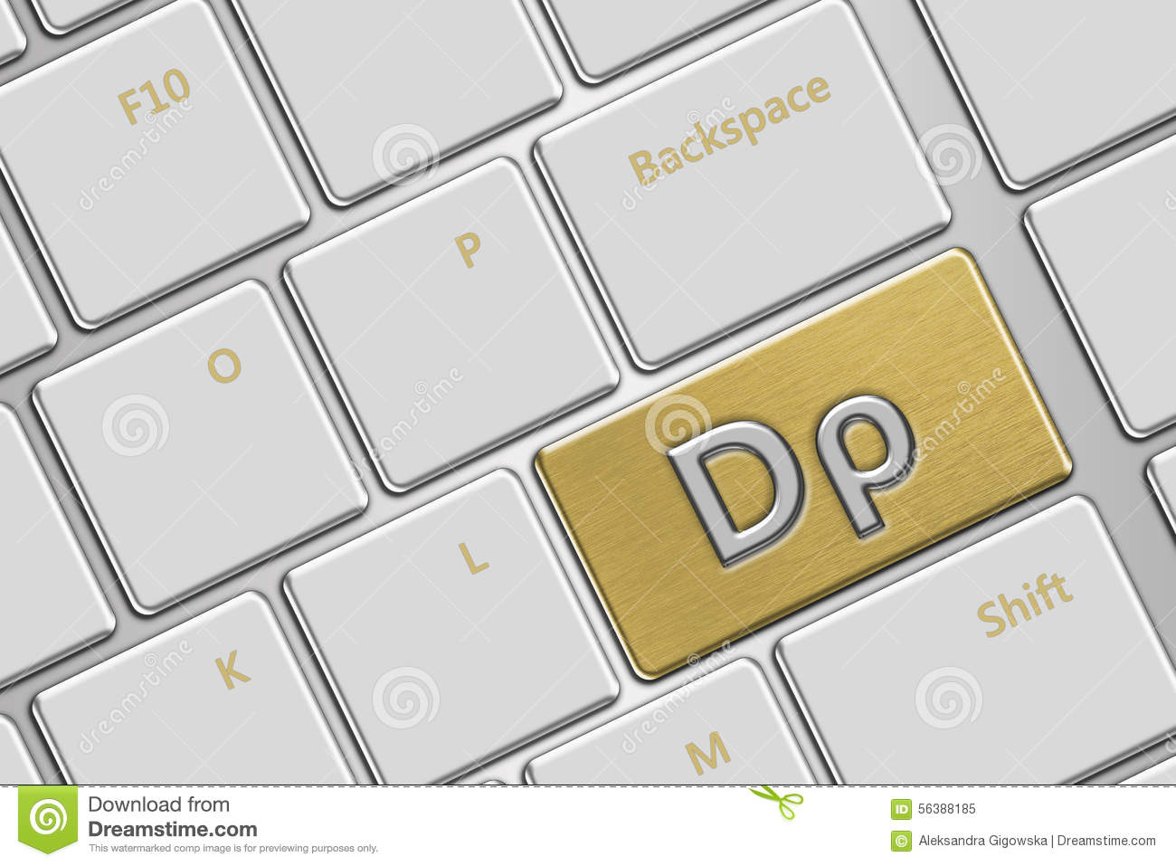 Computer Keyboard With Greek Drachma Button Stock Illustration