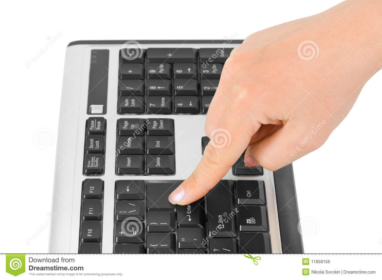 computer keyboard and hand royalty free stock image image 11858156. Black Bedroom Furniture Sets. Home Design Ideas