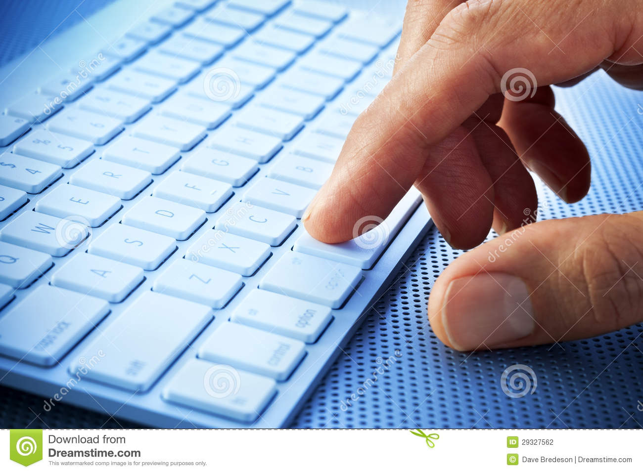 Computer Keyboard Hand Finger Stock Photography - Image: 29327562