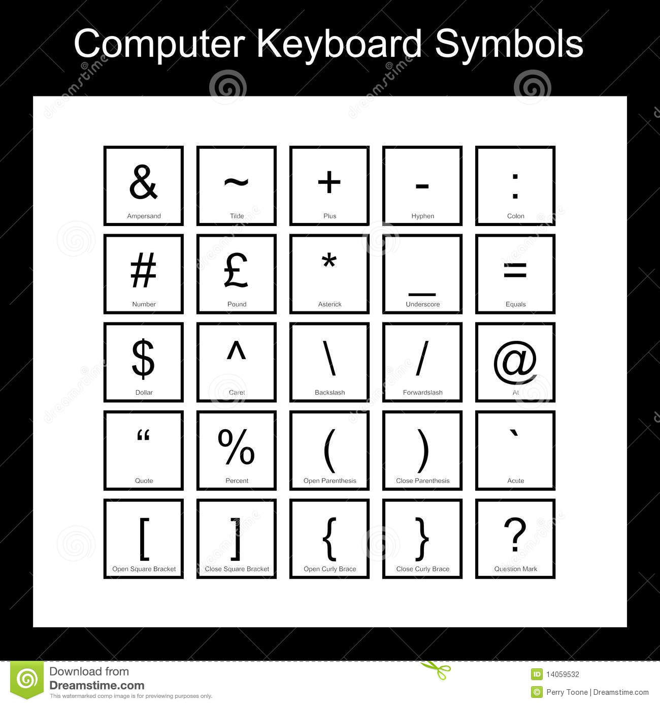 computer keyboard symbols stock photography image 14059532