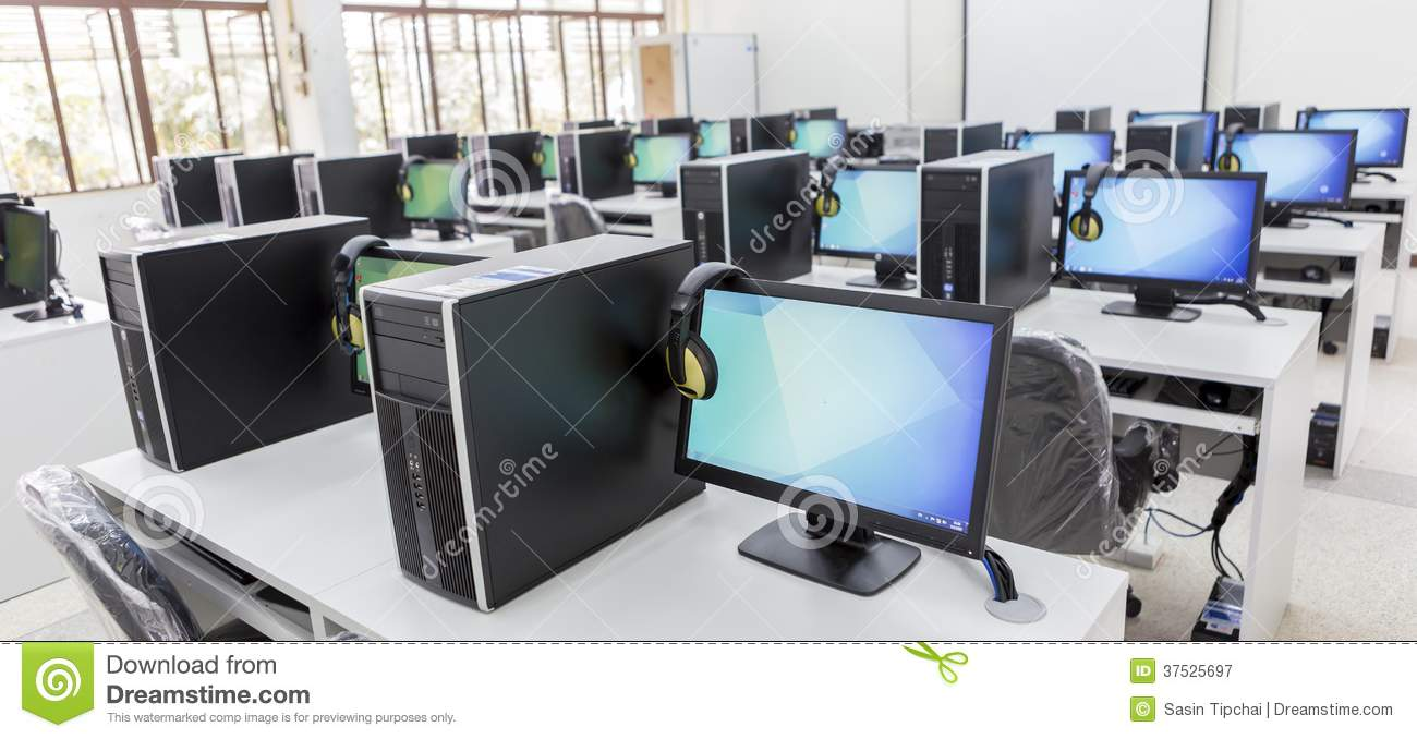 Computer Lab Royalty Free Stock Photography
