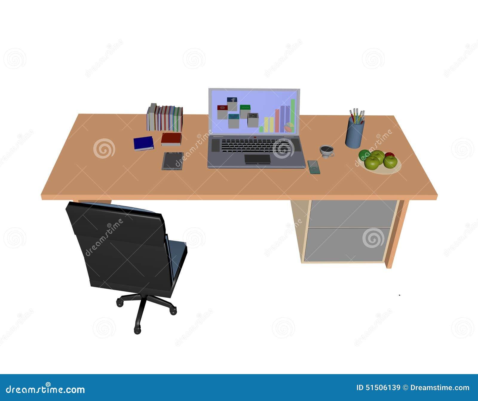 Laptop Workstation Stock Photography Cartoondealer Com