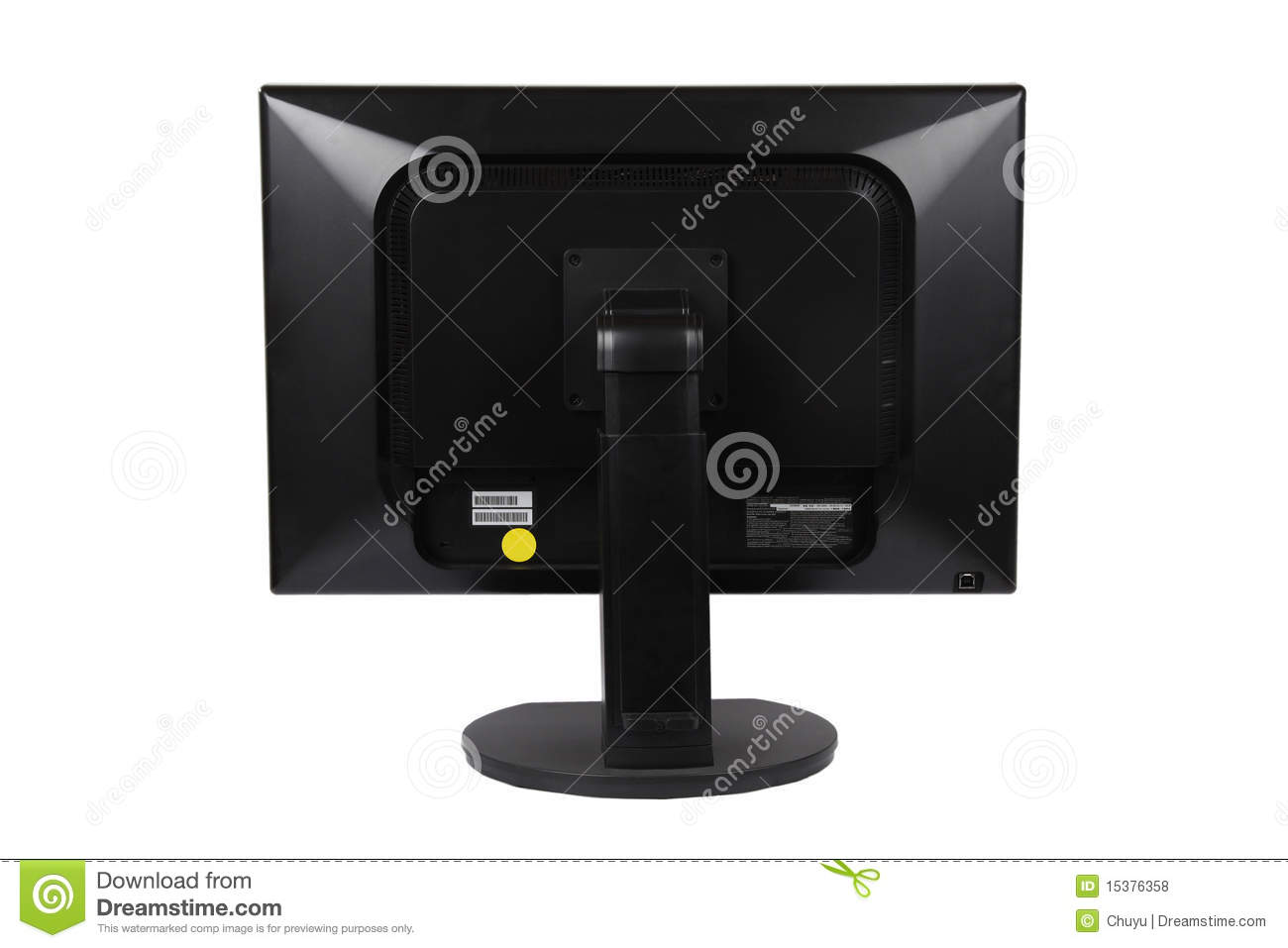 Back To Back Monitor : Computer lcd monitor on the back stock photo image