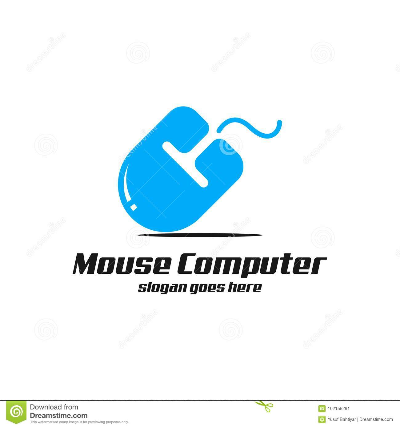 Mouse Computer Logo art stock illustration. Illustration of panel ...