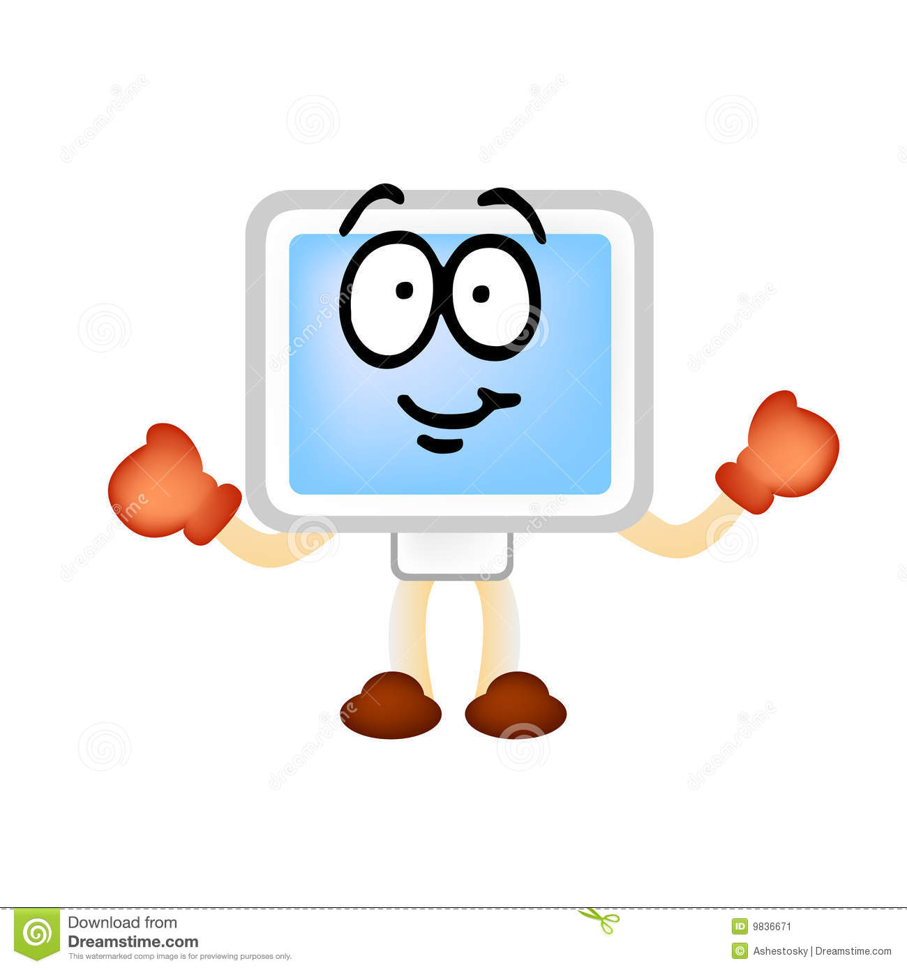 computer man vector mascotte stock image image 9836671