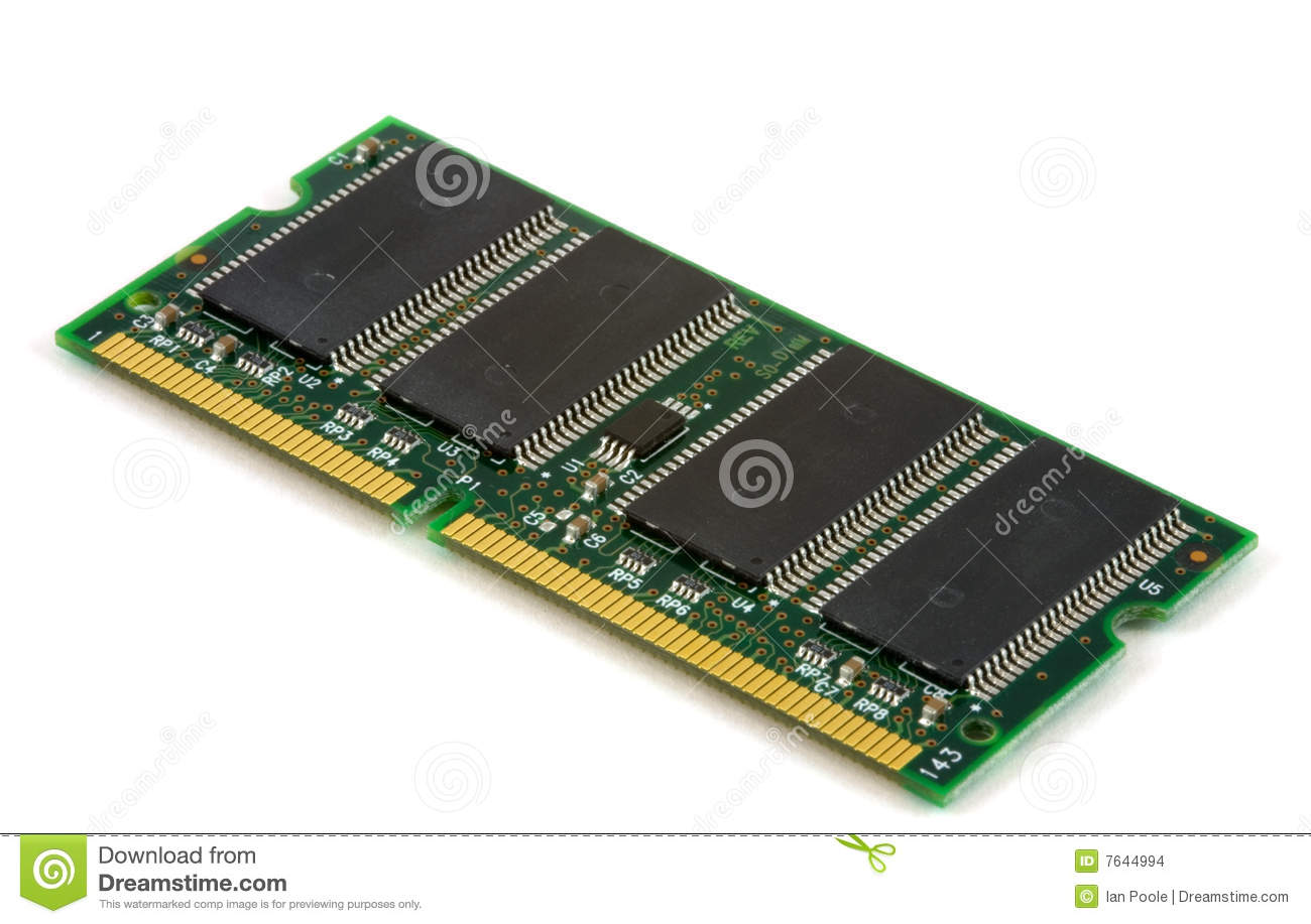 computer memory board stock photo image of chip dimm 7644994. Black Bedroom Furniture Sets. Home Design Ideas