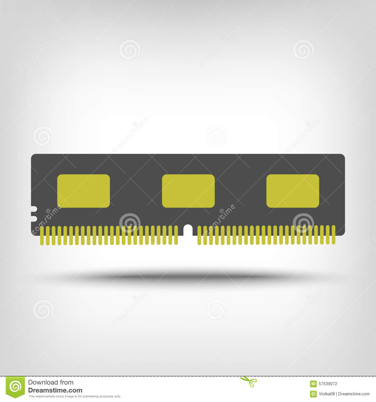 Computer Memory Stock Illustration - Image: 57539072