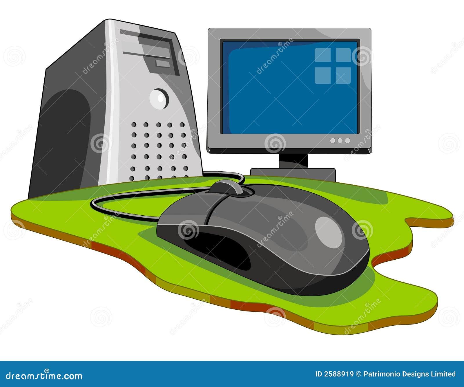 Computer met toetsenbord & muis