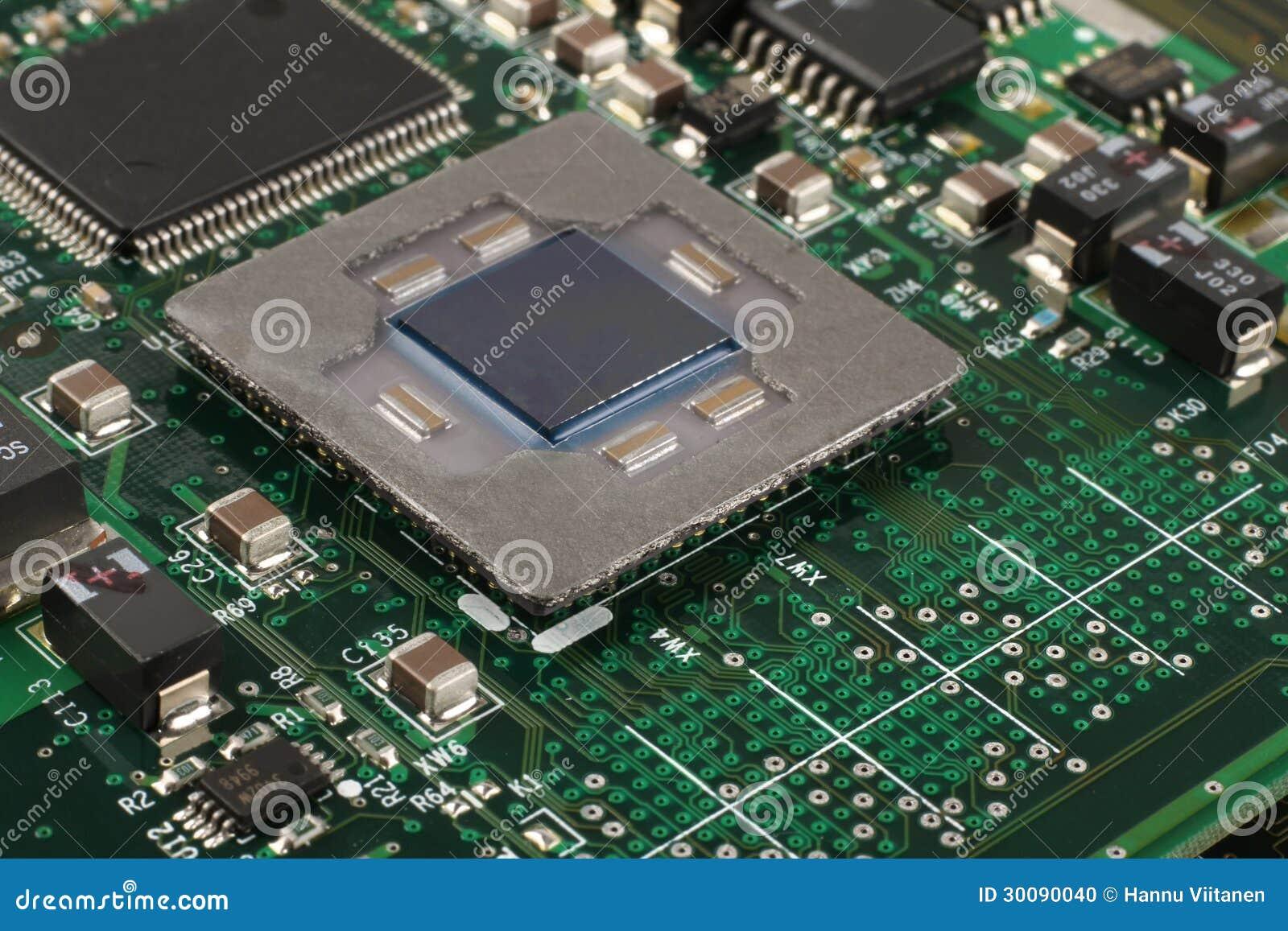 Computer Microprocessor Closeup Stock Photo - Image: 30090040