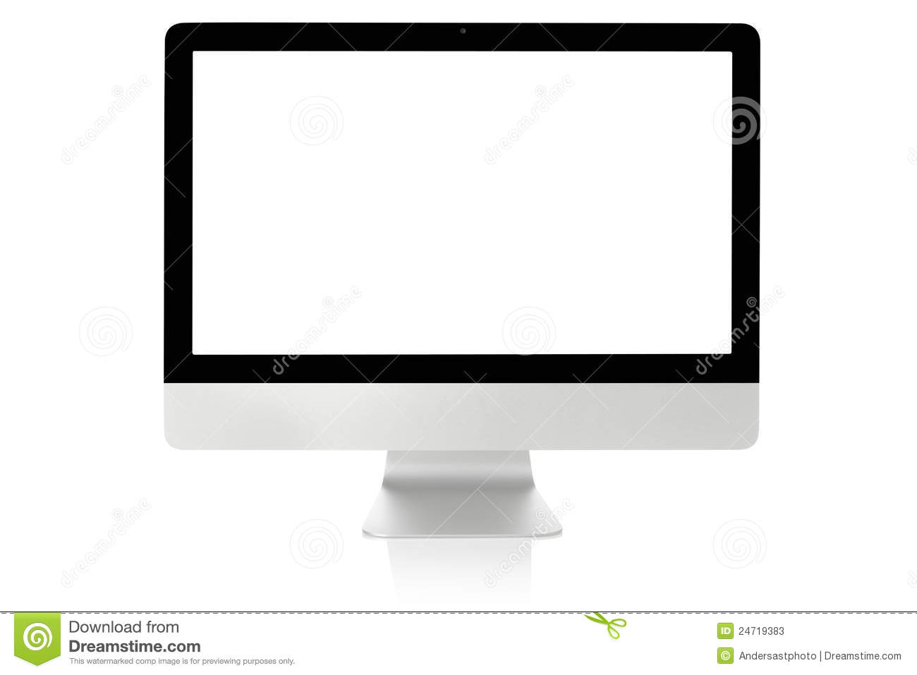 Computer Monitor With Blank Screen Stock Photos - Image ...