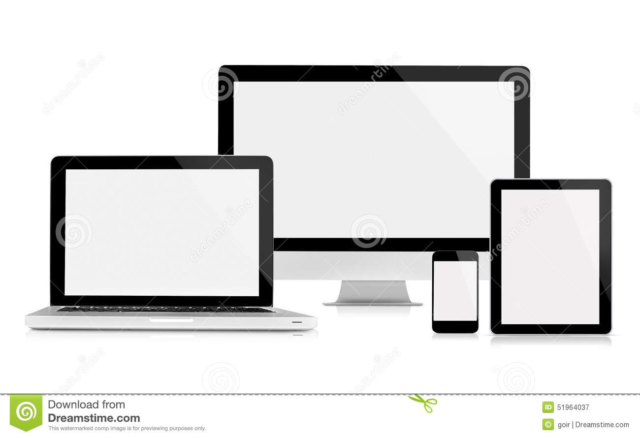 Computer monitor, laptop, tablet and mobile phone