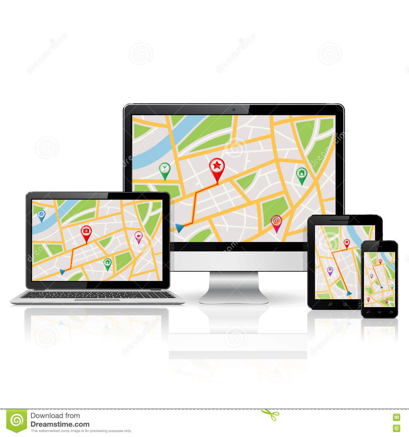 Laptop gps navigation