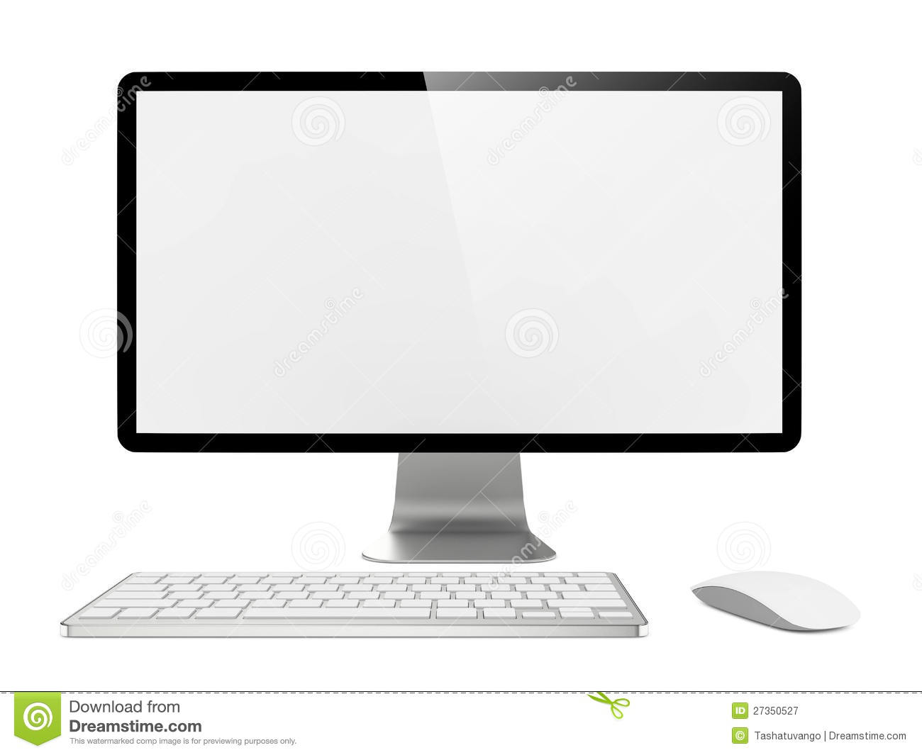 ... Free Stock Photography: Computer Monitor with Mouse and Keyboard