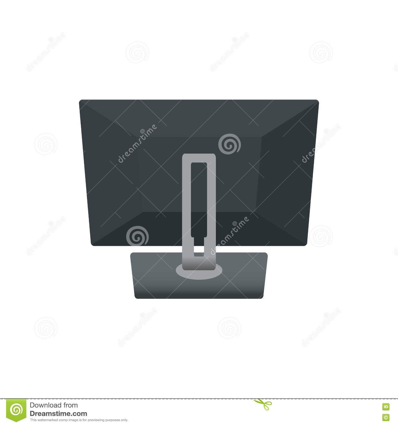Computer Monitor Notebook Laptop, Television Backside. Icon Vector Illustration. on White Background
