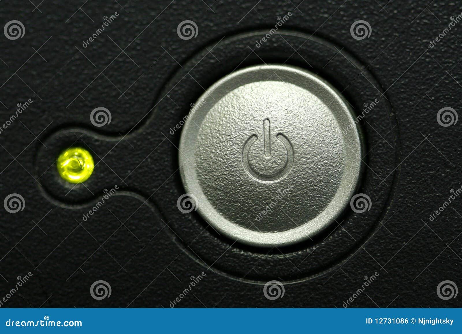 Monitor Power Button : Computer monitor power button macro stock photo image