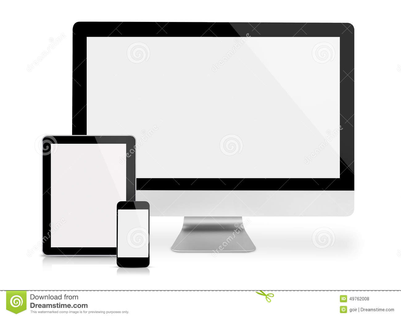 Computer monitor, tablet and phone