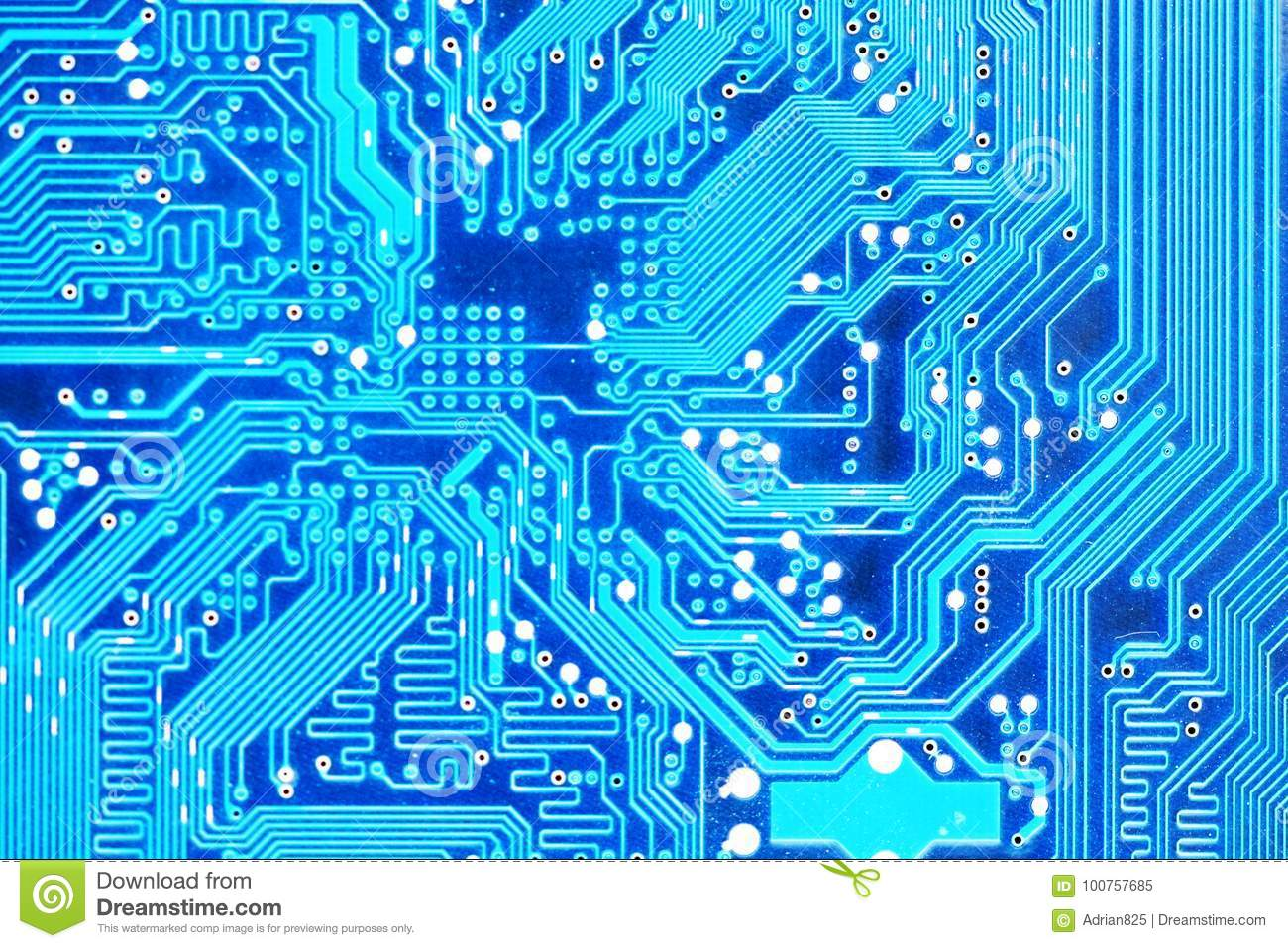 Computer Motherboard Or Electronic Circuit Board Close Up Stock Old Royalty Free Image Photo