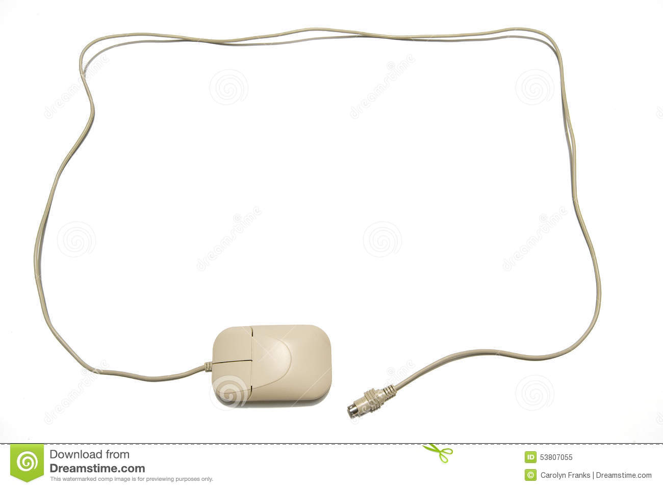 Computer Mouse And Cord For Border Stock Photo - Image: 53807055