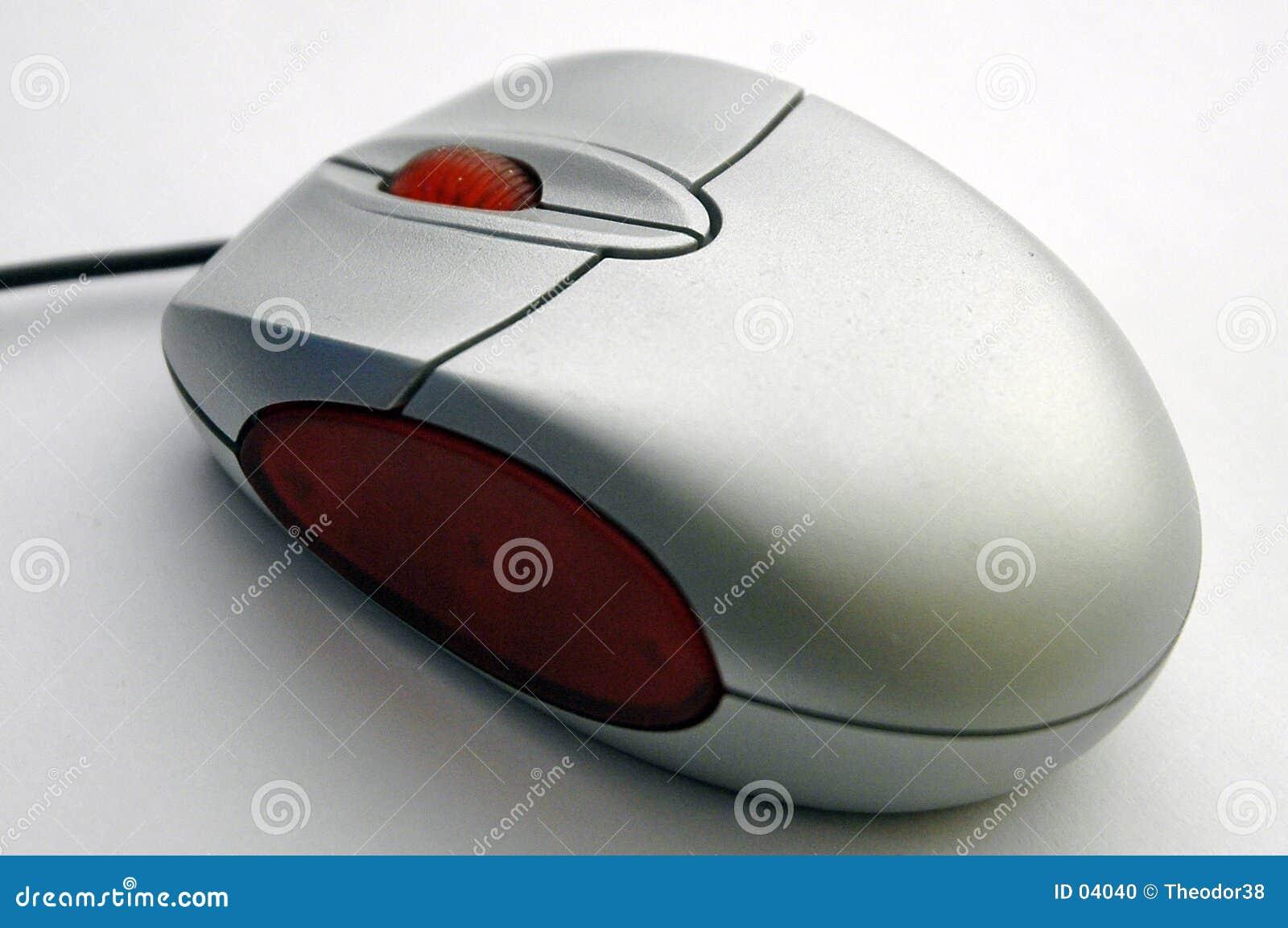 Computer mouse diagonal view