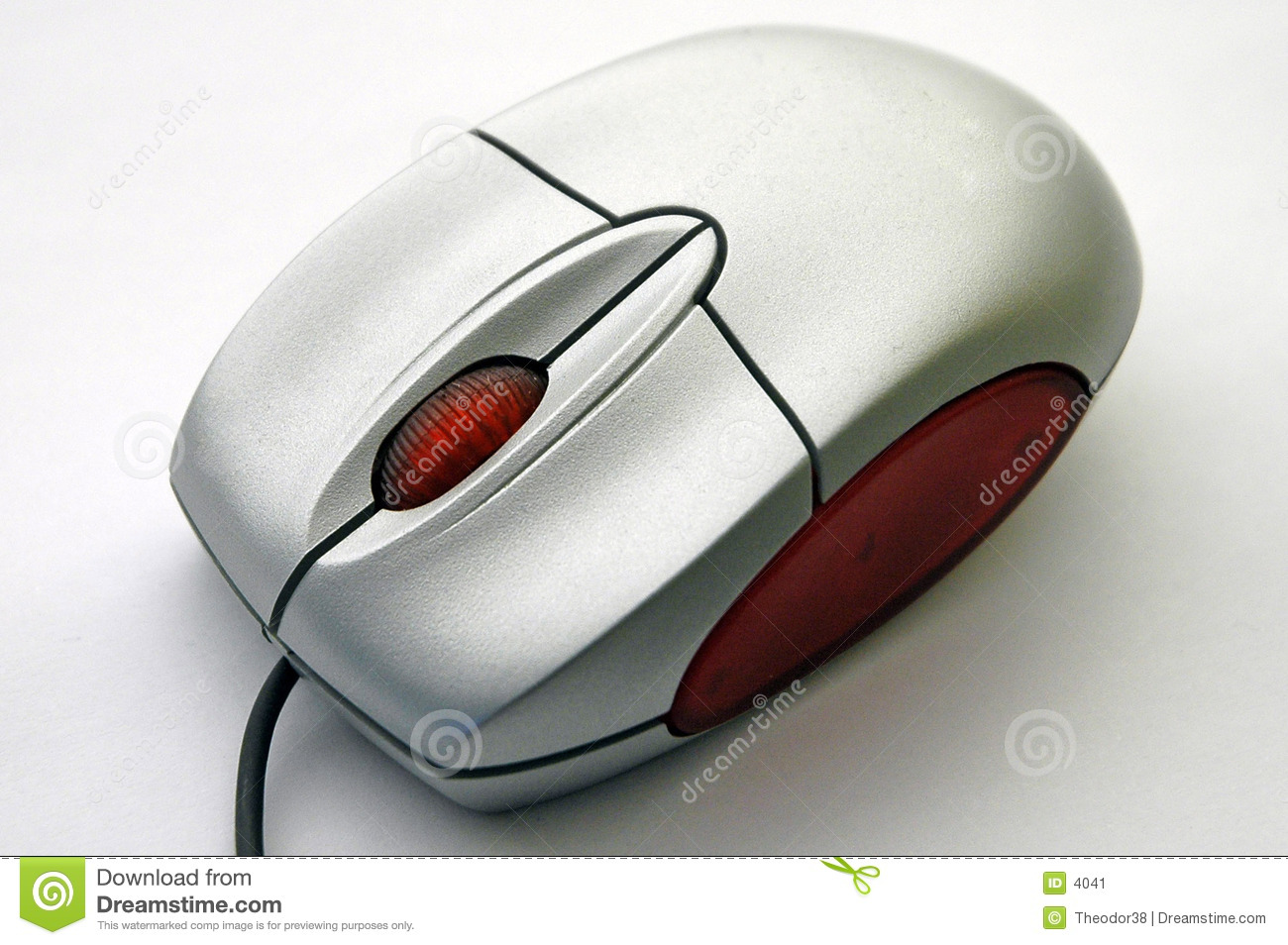 Computer mouse from diagonal view