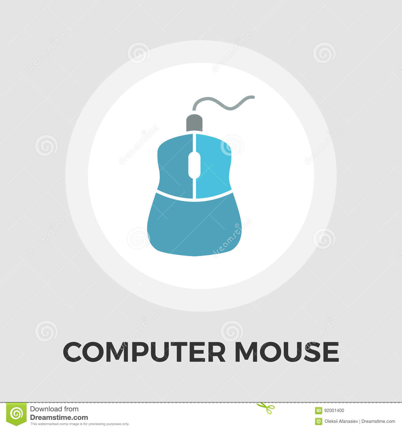 Computer Mouse Flat Icon Stock Vector Illustration Of Part 92001400 Diagram In This