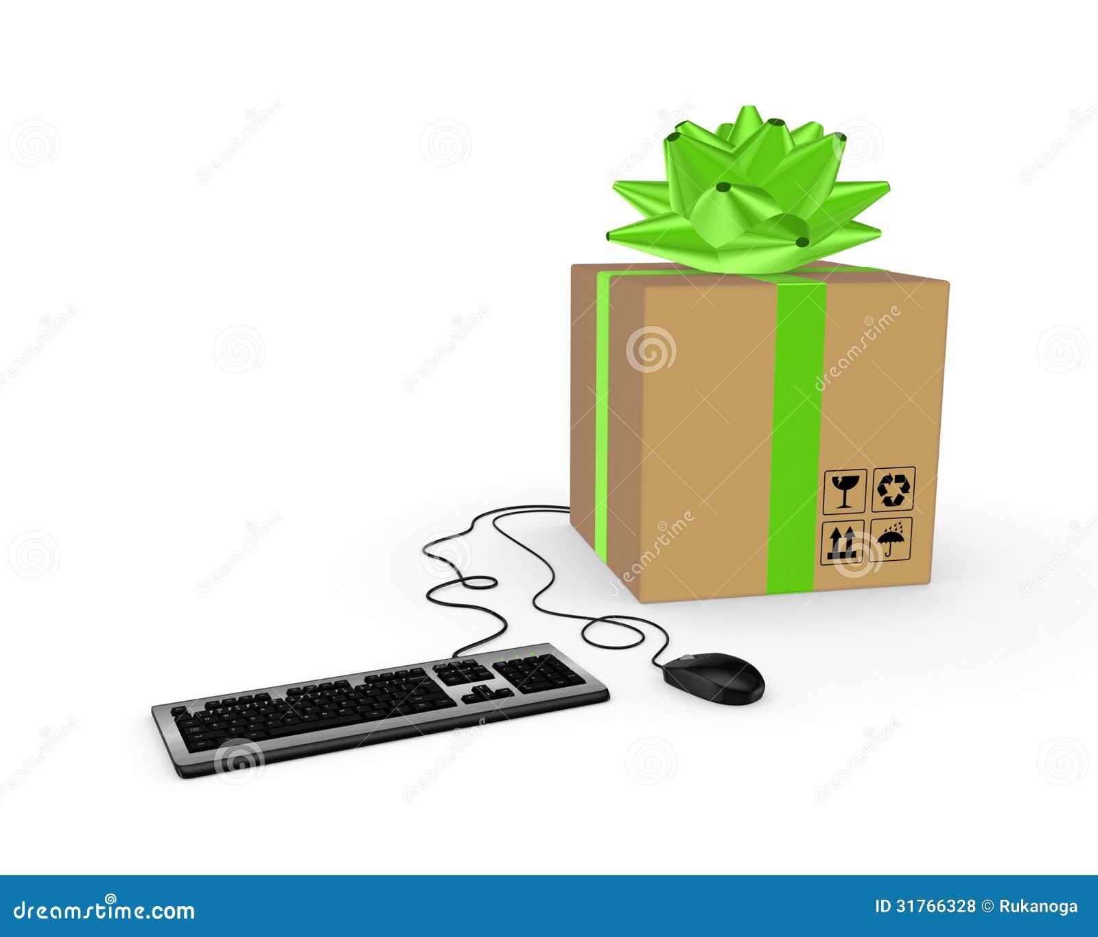 Computer mouse keyboard and carton box stock illustration royalty free stock photo buycottarizona