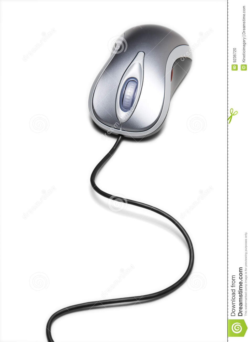 Computer mouse with long cord