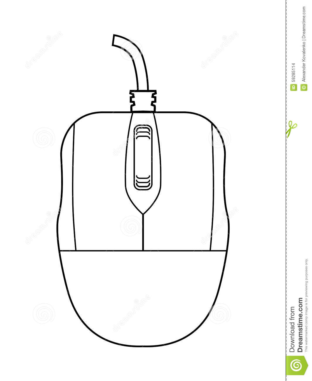 Computer Mouse Outline computer mouse stock illustration - image ...