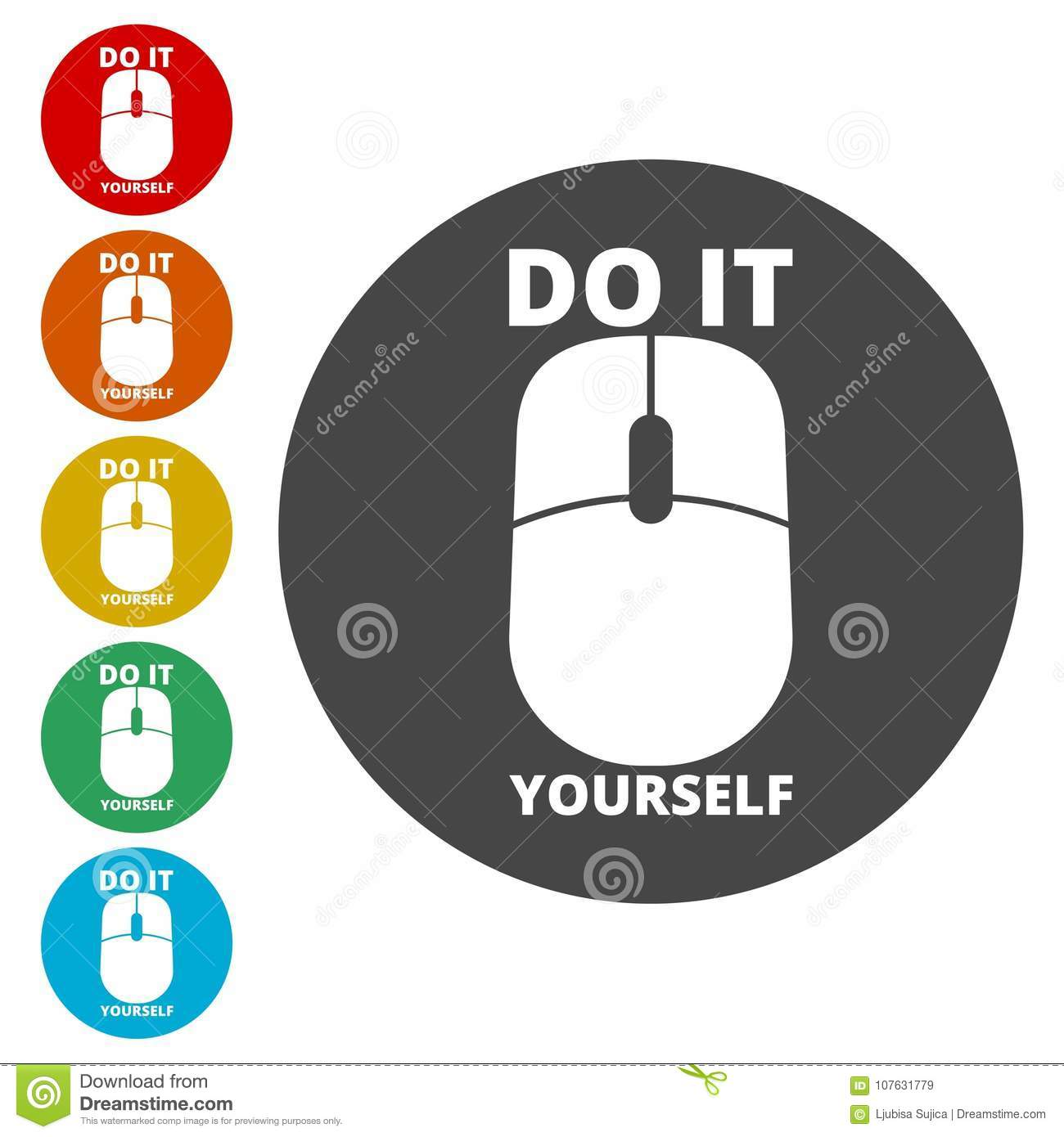 Computer mouse with the text diy do it yourself icon stock vector download computer mouse with the text diy do it yourself icon stock vector illustration solutioingenieria Gallery