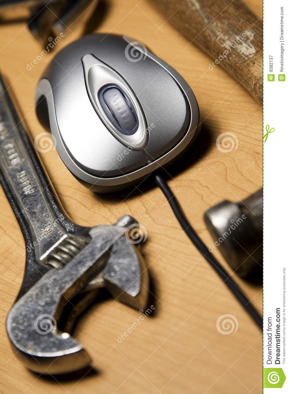 Computer mouse and tools