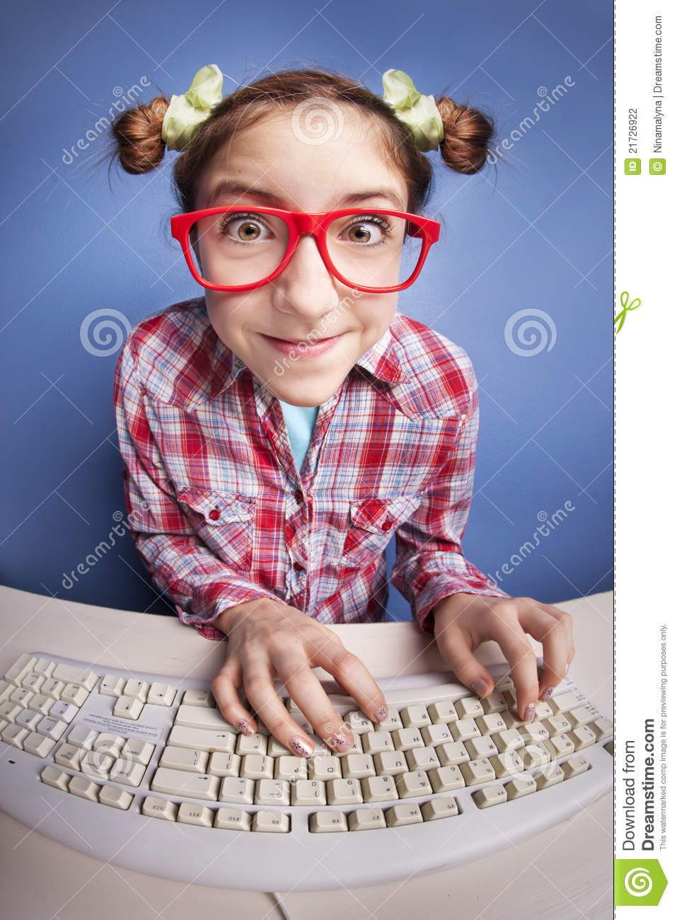computer nerd stock photo image of emotion education