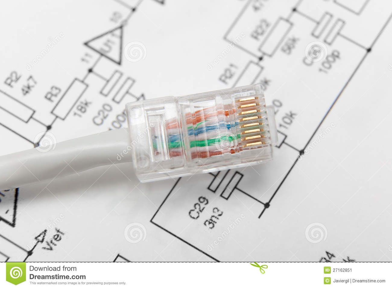 Computer Network Cable Rj45 Stock Image Of Close Internet Wiring Diagram Download