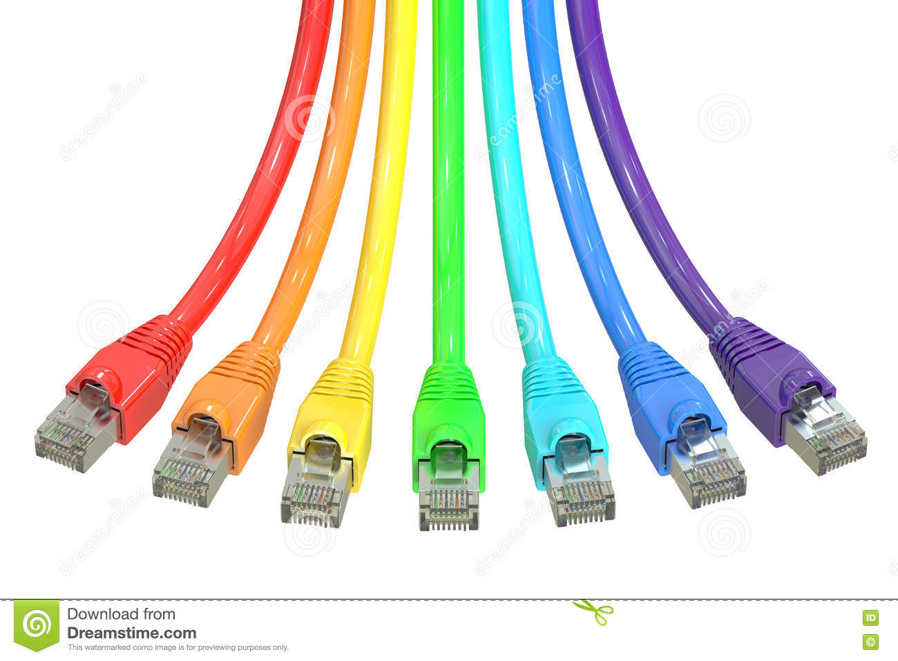 Cat5 Wiring Background Diagrams Computer Cat 5 Diagram Ethernet Network Cable 3d Rendering Royalty Free Stock Configuration