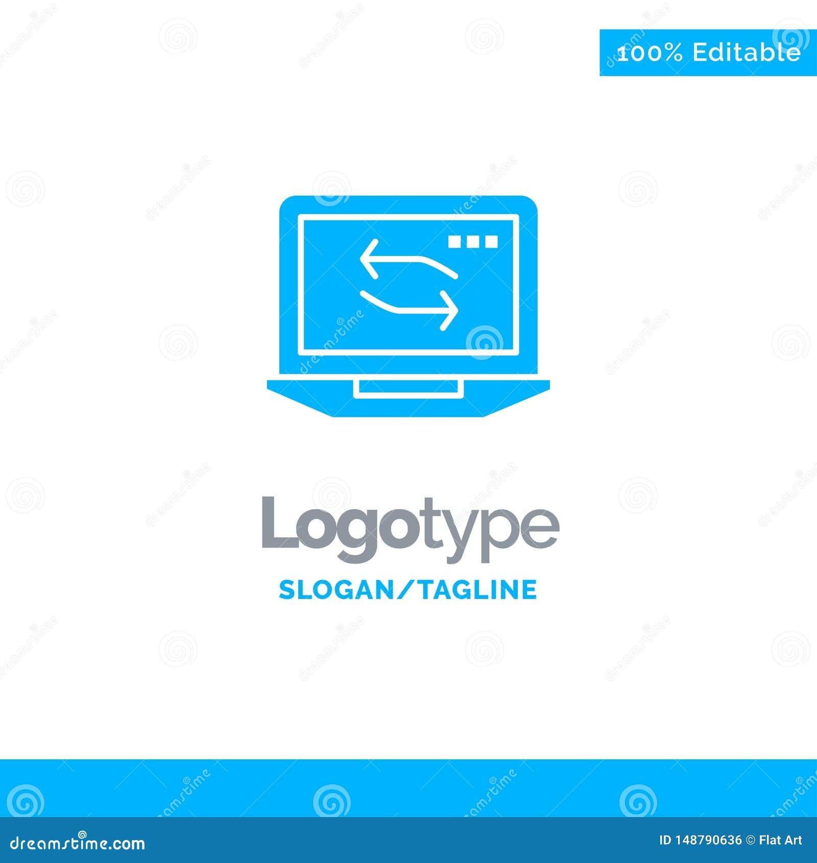 Computer, Network, Laptop, Hardware Blue Business Logo Template