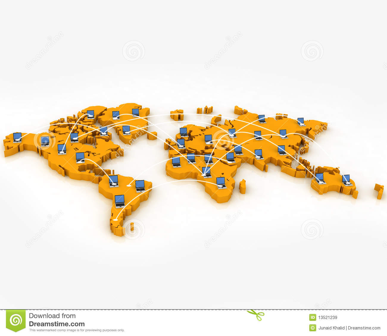 Computer network on world map stock illustration illustration of computer network on world map gumiabroncs Gallery